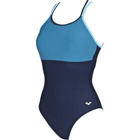 arena Melissa Light Cross One Piece Swimsuit Dames, blauw